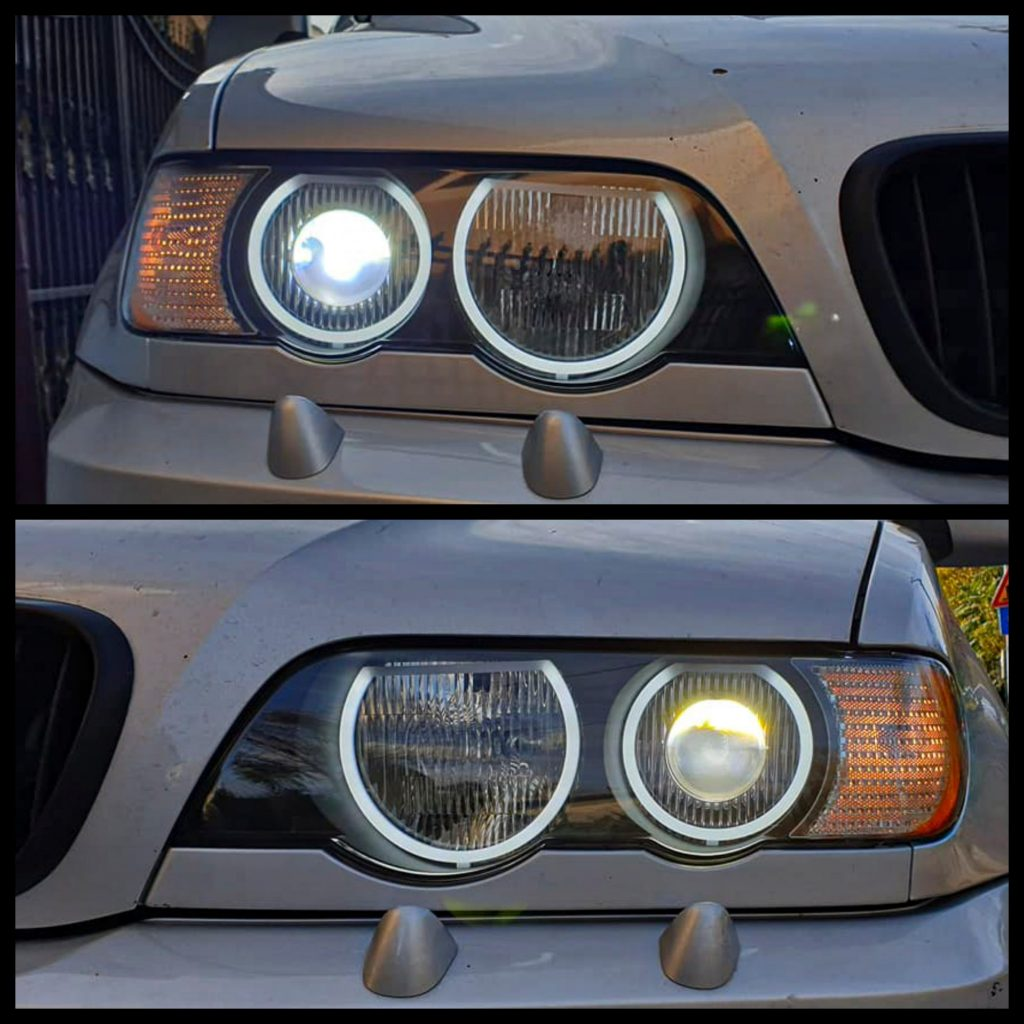 англески очи на BMW X 5 включени