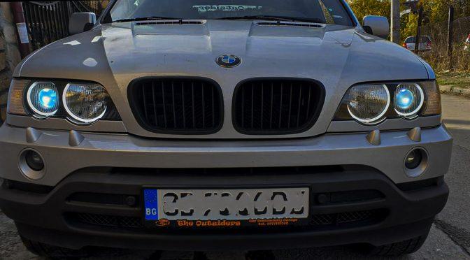 Монтаж на англески очи на BMW X 5
